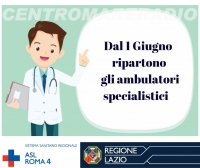 ASL RM4: RIPARTONO LE VISITE AMBULATORIALI